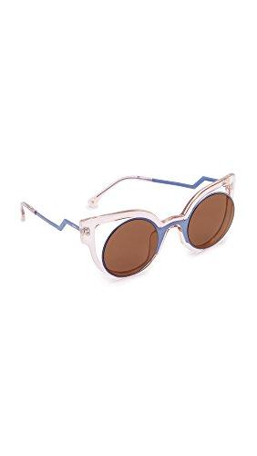 Fendi Round Cutout Sunglasses - Blue/Pink