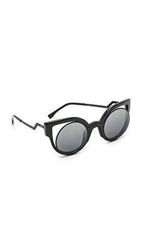 Sunglasses Cutout  fendi round cutout sunglasses black love the edit