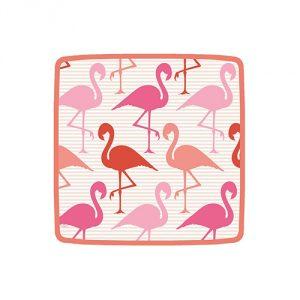Flamingo Square Salad-Dessert Plates