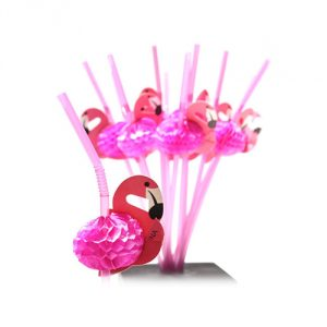 Flamingo-Straws