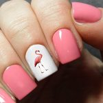 Flamingo Nail Decals