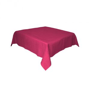 Fuschia Linen Tablecloth