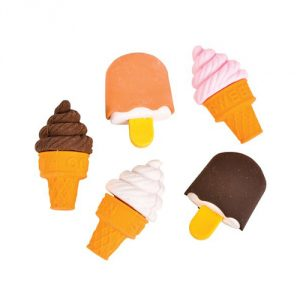 Ice Cream Cone & Frozen Treat Erasers