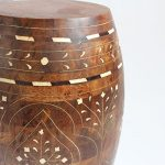 Inlay Wood Barrel Stool