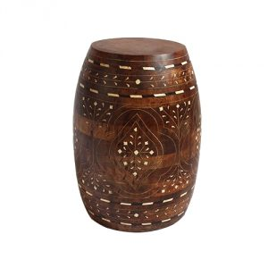 Inlay-Wood-Barrel-Stool