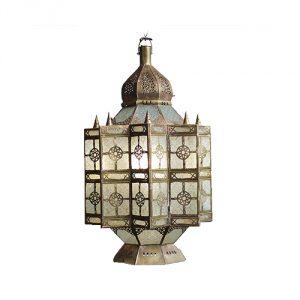 Moroccan-Brass-Glass-Lantern