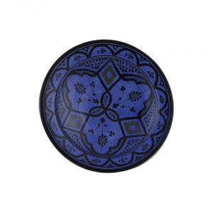 Moroccan-Handmade-Ceramic-Appetizer-Plate-Blue