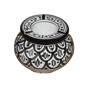 Moroccan-Handmade-Ceramic-Ashtrays-Black