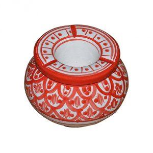 Moroccan-Handmade-Ceramic-AshtraysRed