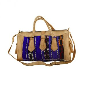 Moroccan-Leather-Recycled-Kilim-Rug-Bag-Blue