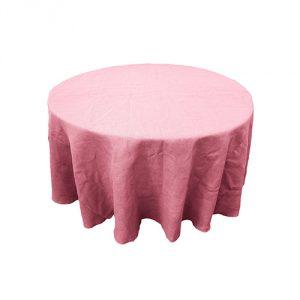 Pink-Burlap-Tablecloth