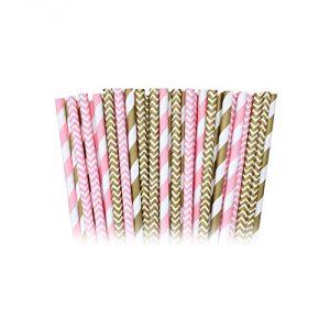 Pink-Stripe-and-Chevron-Paper-Straws