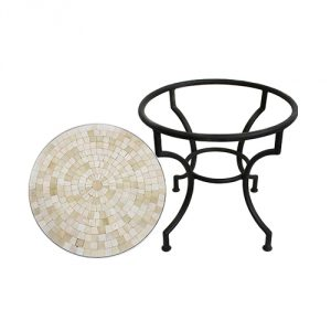 Round-Mosaic-Tile-Side-Table-Ivory