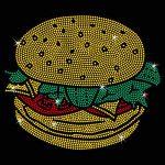 PATCHES Rhinestone Cheeseburger