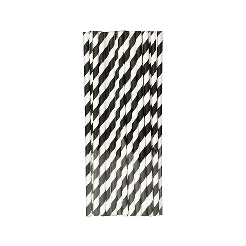 Black-Striped-Paper-Straws