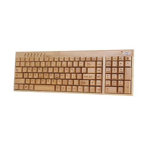 Koolertron-Handmade-Bamboo-Wooden-PC-Wireless-Keyboard