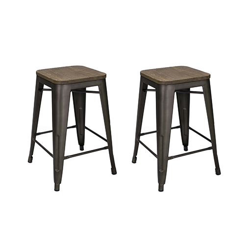 Metal-Counter-Stools-with-Vintage-Wood-Seats