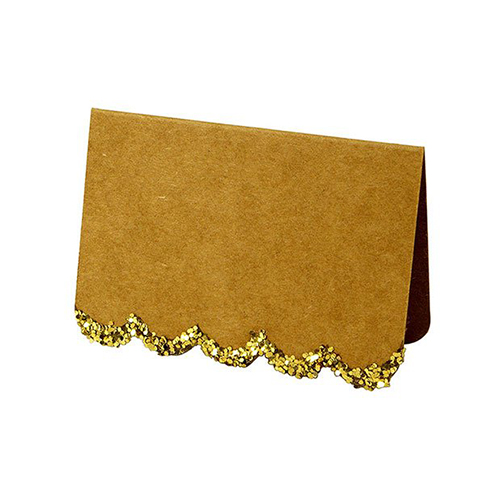 Meri Meri Gold Glitter Scallop Place Cards