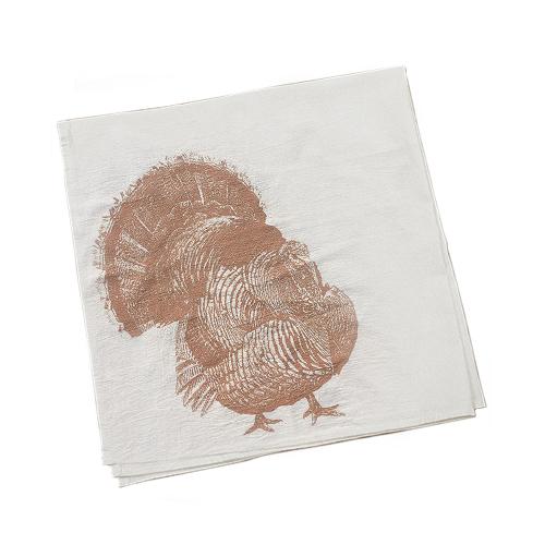 Turkey Napkins - Metallic Copper Ink
