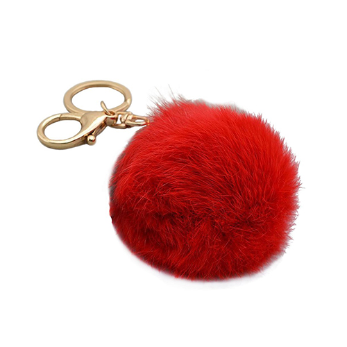 Fur Ball Pom Pom Key Chain