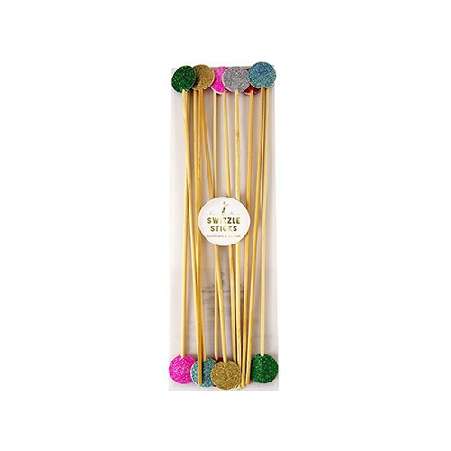 Meri Meri Multicolor Glitter Swizzle Sticks