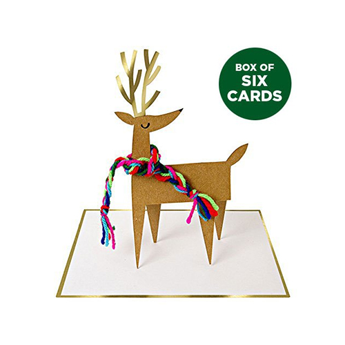Stand Up Reindeer Christmas Cards