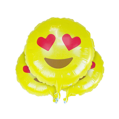 Heart Eyes Love Emoji Balloons