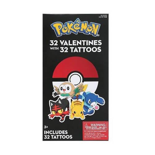 Pokémon Valentine Cards with Tattoos