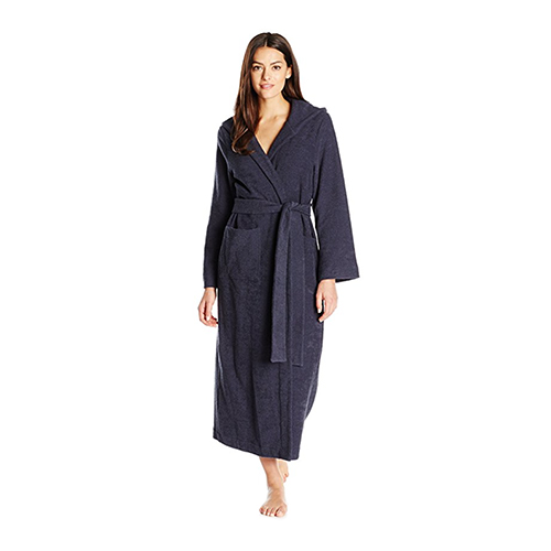 Hanro Long Plush Robe with Hood