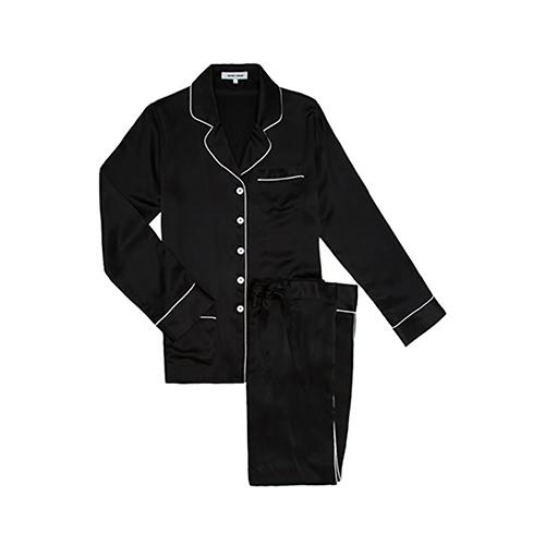 Jet Black Olivia Von Halle Silk Pyjama