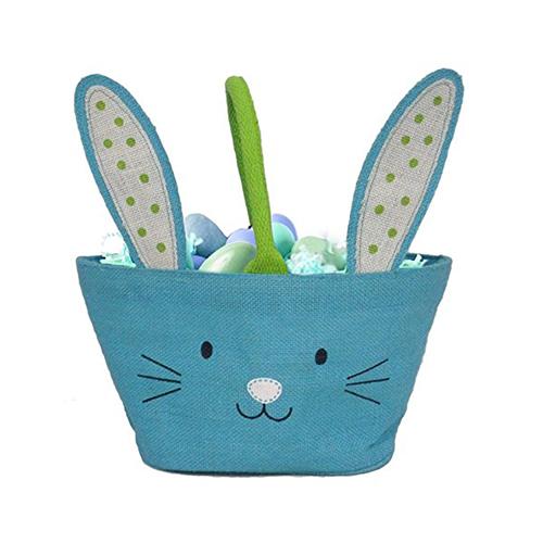 Easter Bunny Jute Treat Bag - Blue