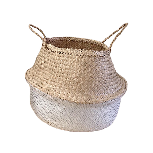 Seagrass Basket - Dipped White
